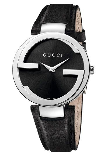 00f5a34b05e Gucci  Interlocking G  Leather Strap Watch available at  Nordstrom ...