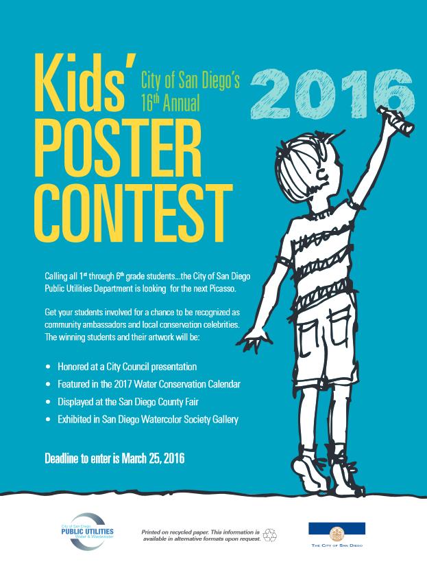 Water Conservation Poster Contest | City of San Diego Official ...