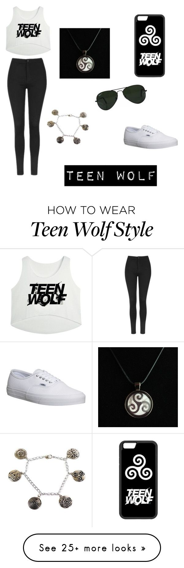 Teen wolf by karlangas on polyvore featuring topshop vans