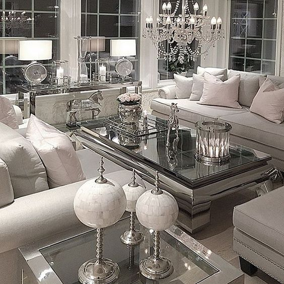 Mesmerizing Mirrored Coffee Table With Glass And Wood Combined Furniture Modern Minimalist Living Room Minimalist Living Room Design Living Room Design White