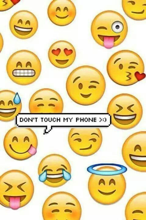 Don T Touch My Phone Wallpaper Iphone Cute Emoji Backgrounds