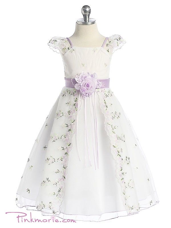 ... Embroidered Flower Girl Dress Party Wedding Bridesmaid Ball Gown - Mom  And Baby Shower ...