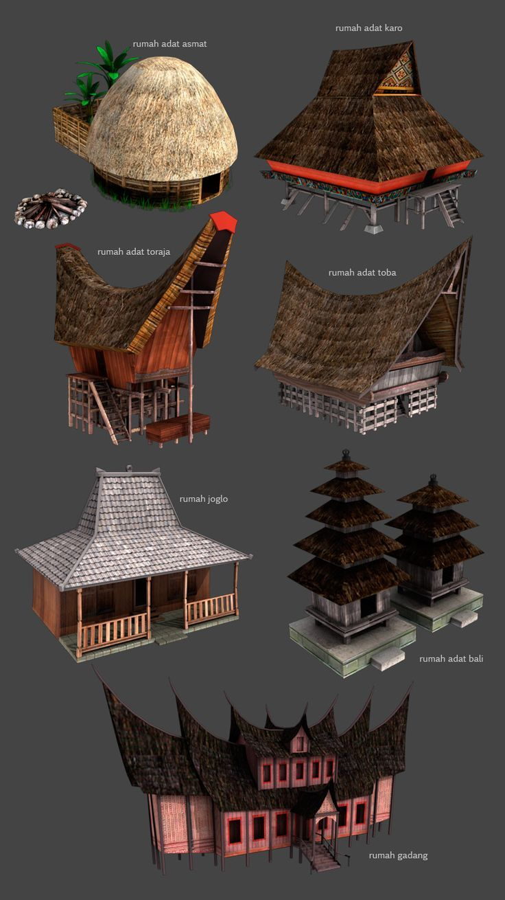Rumah Adat Or Traditional Houses Of Indonesia By Kauwan On