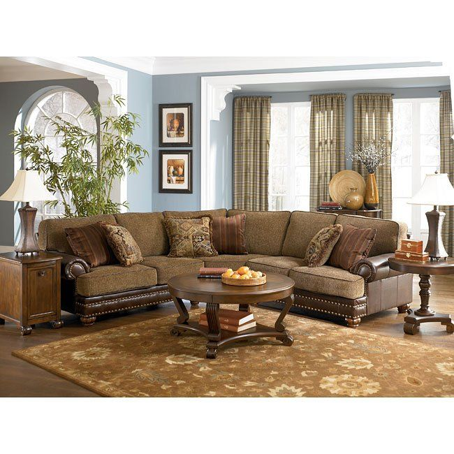 Canyon Sectional Living Room Set In 2019: Hartford - Walnut Sectional