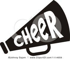 cheer megaphone clip art cheer pinterest cheer megaphone rh pinterest com