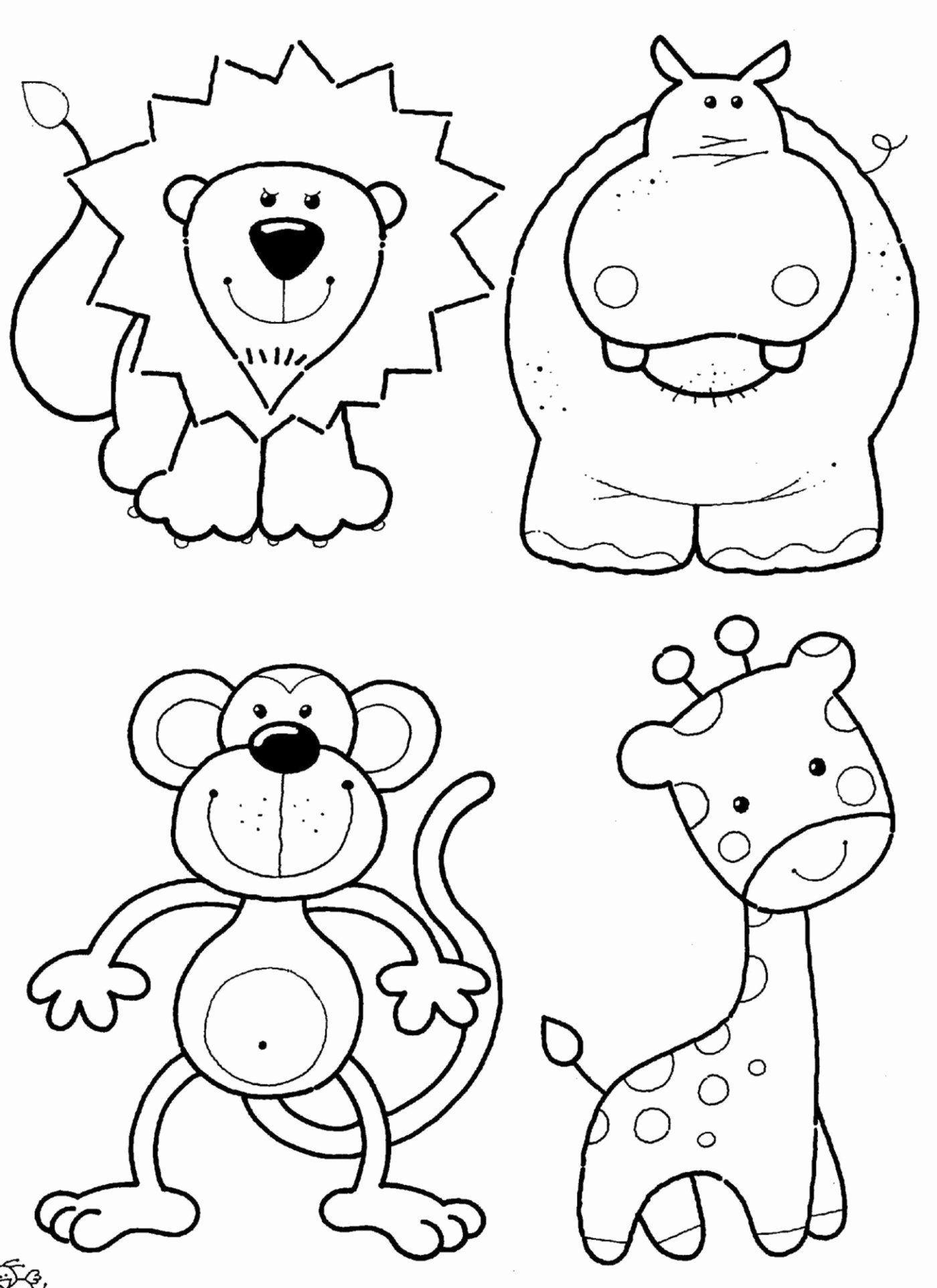 Animals Coloring Pages For Kids In