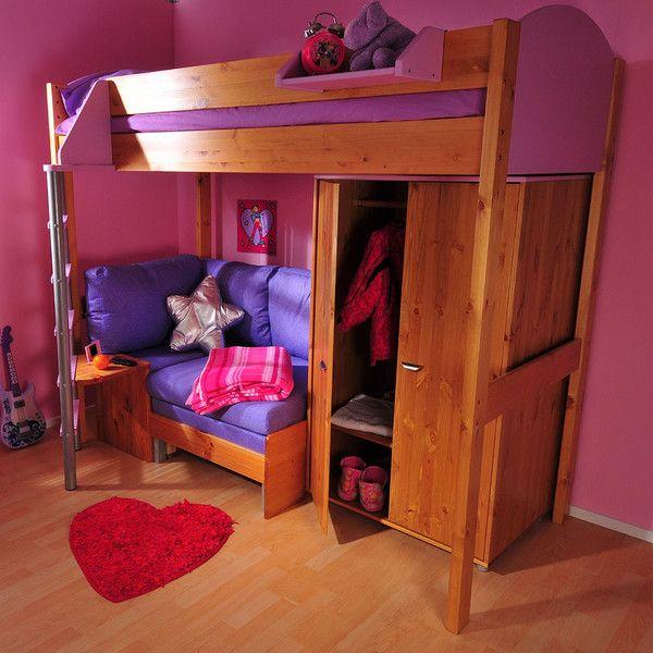 Incredible Stompa Casa 10 High Sleeper With Sofa Bed Wardrobe Camellatalisay Diy Chair Ideas Camellatalisaycom