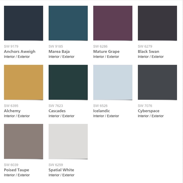 Sherwin Williams Colormix 2017 Collection Noir Colorful Interiors Paint Colors For Home Interior Paint Colors Schemes