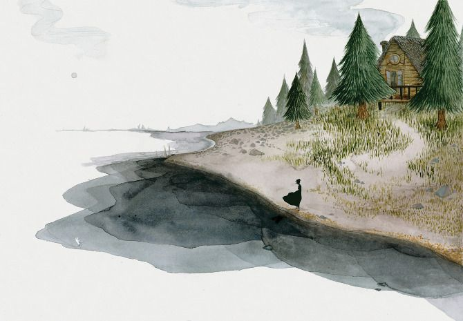 To the River, Young Girl - Jensine Eckwall: Illustration