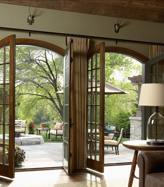 Modern Farmhouse Exterior: French Doors Leading Out To The Backyard