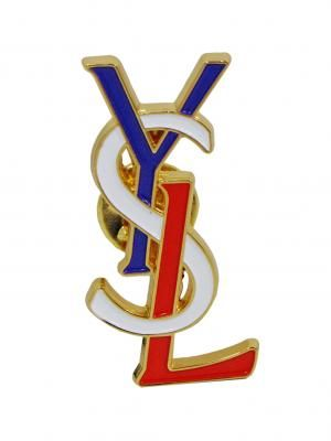 Yves Saint Laurent 1980's red white and blue brooch  £120