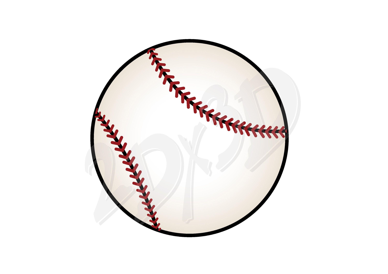 Vector Baseball Download Digital Image Graphical Image Etsy In 2021 Digital Image Image Graphic