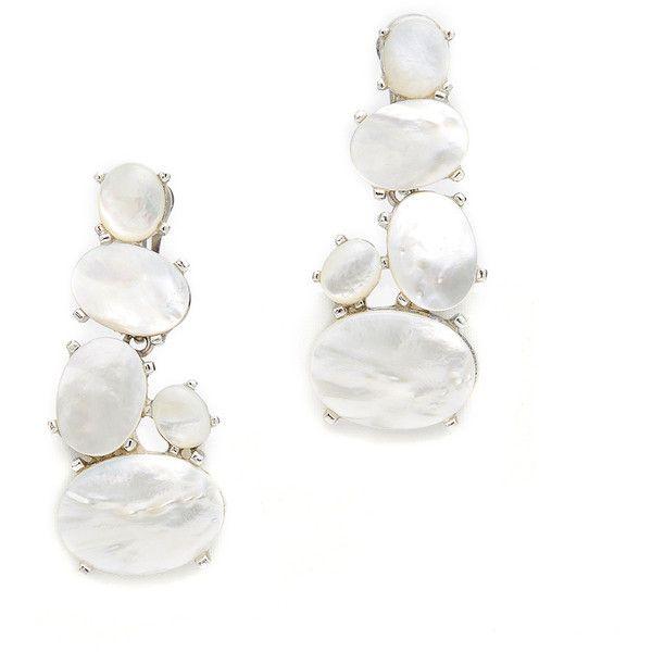 Kenneth Jay Lane Pearl Buddha Clip Earrings Pearl U6E9j1