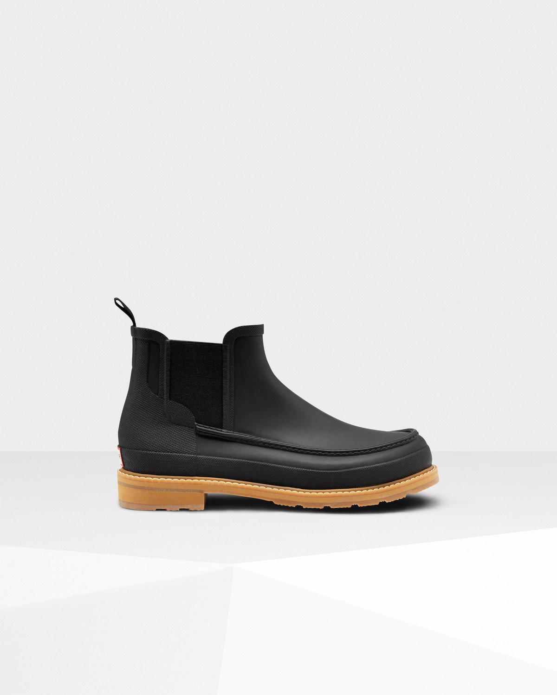 74acf57feaa3 Hunter Men s Original Moc Toe Chelsea Boots - Us 7 Botina Negra