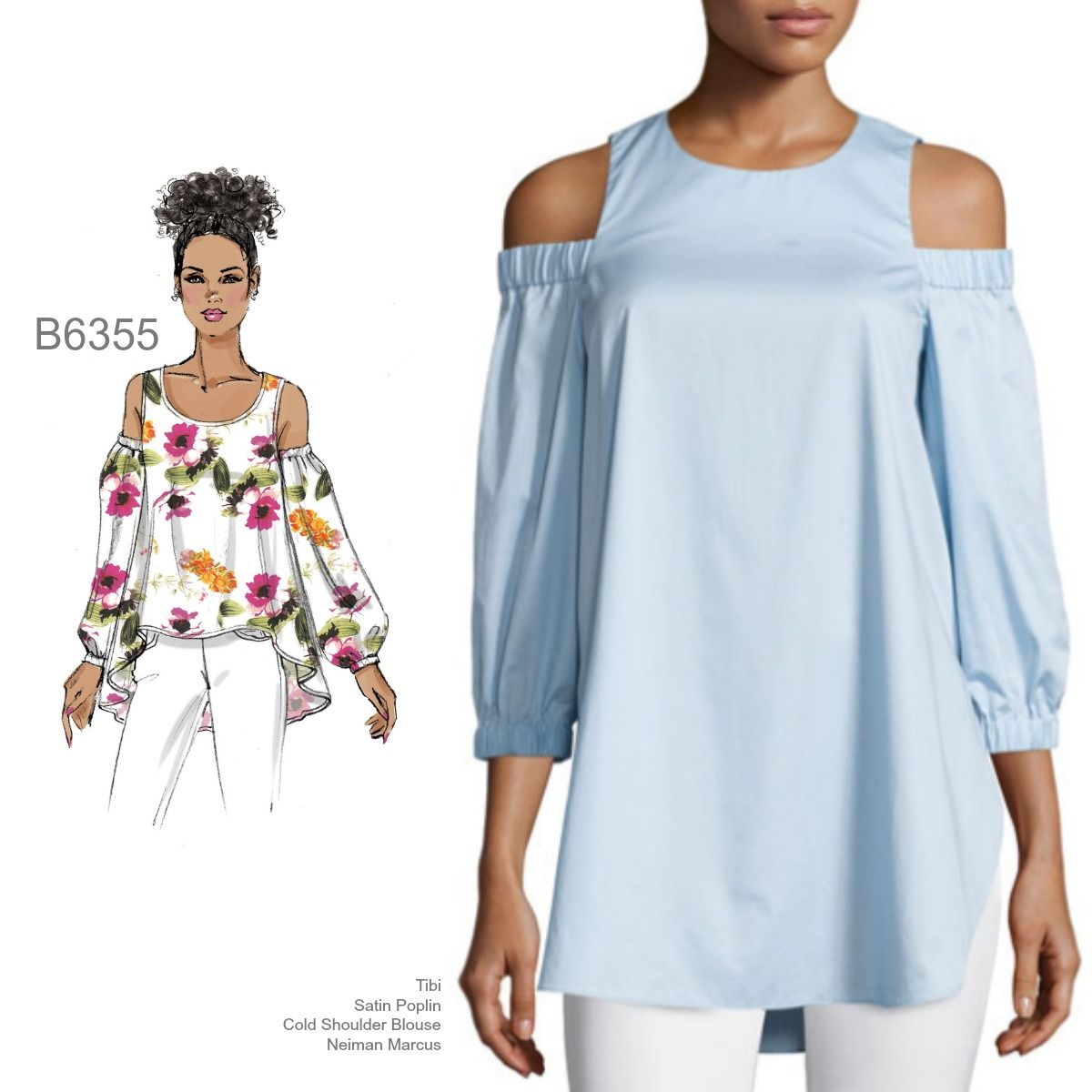 84dfa1ca5330d Sew the Look  B6355 cold shoulder top