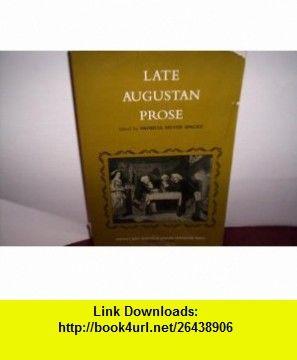 Late Augustan Prose (9780135241240) Patricia Meyer Spacks , ISBN-10: 0135241243  , ISBN-13: 978-0135241240 ,  , tutorials , pdf , ebook , torrent , downloads , rapidshare , filesonic , hotfile , megaupload , fileserve