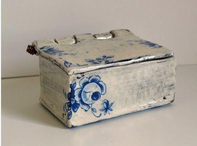 Clay Box With Lid And Hinge Ceramic Boxes Ceramics Clay Box