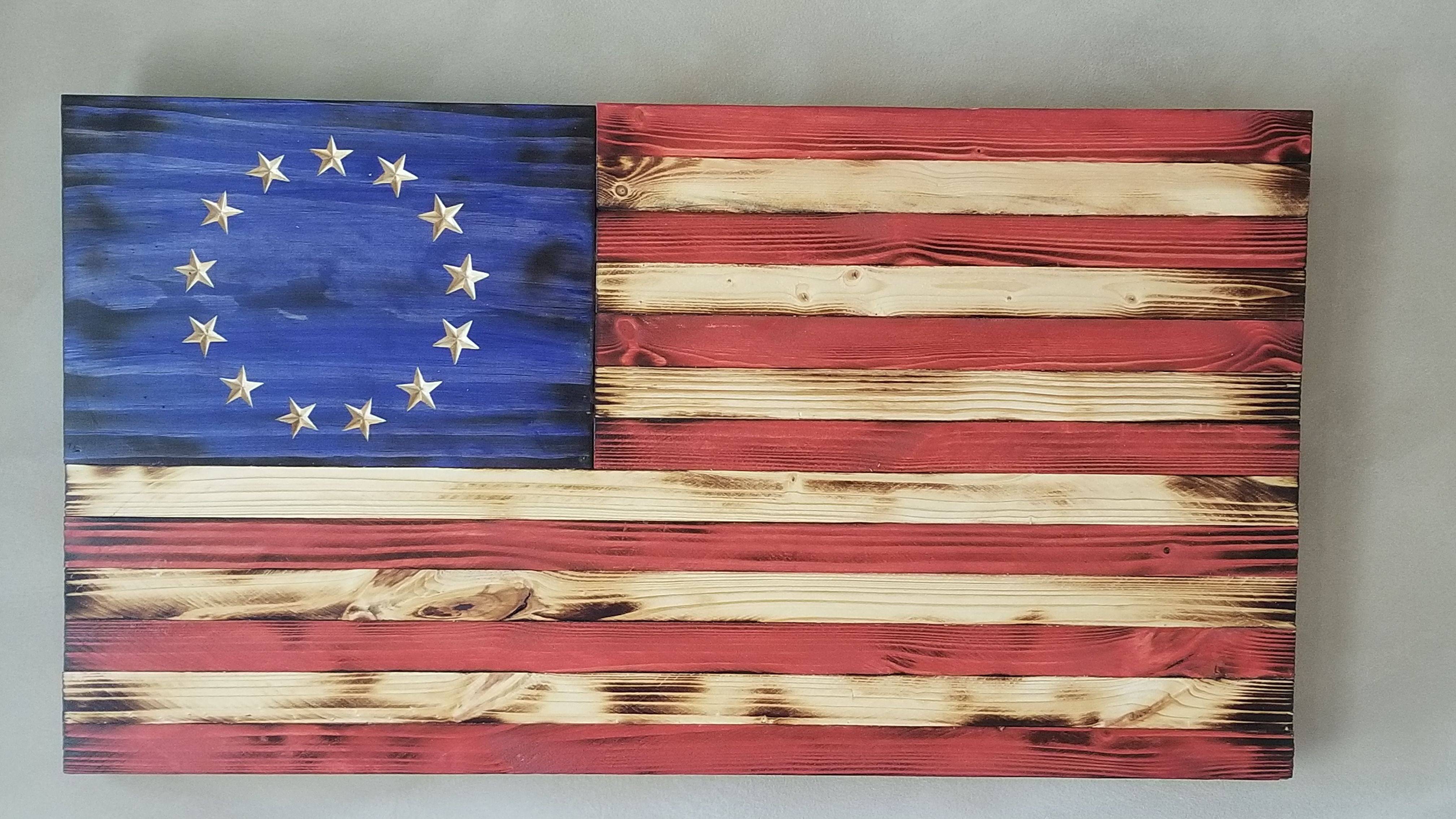 Betsy Ross Flag In 2020 Rustic Flags Flag Crafts Betsy Ross Flag
