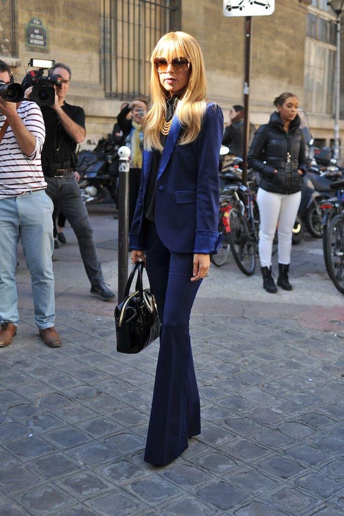 Rachel Zoe at Paris Fashion Week