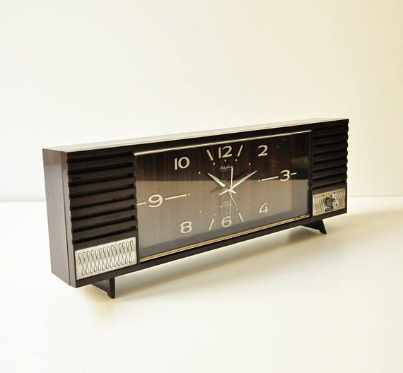 Vintage Musical Alarm Clock Rhythm Bell Music 2 Jewels