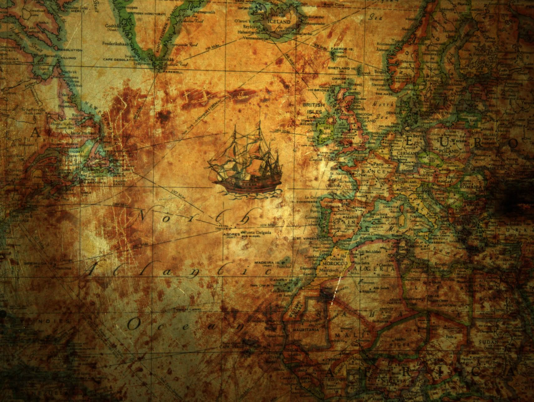 Old World Map Texture Photo: This Photo Was Uploaded By Coryodonnell. Find  Other Old