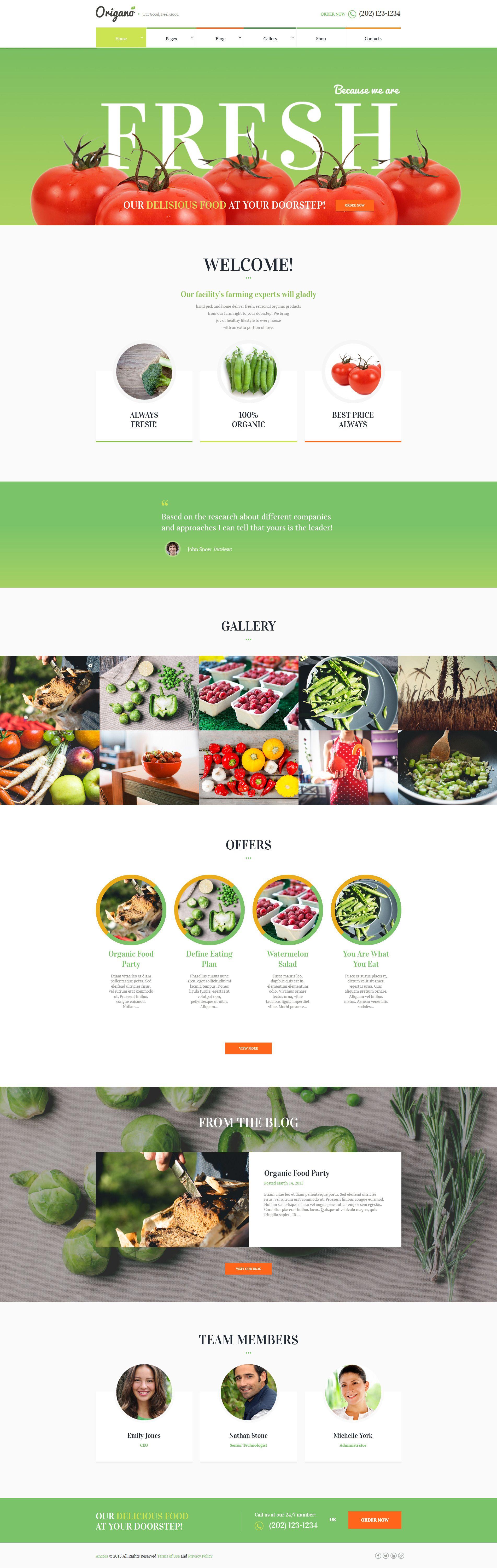 Origano - Organic Food & Eco Farm Theme #WordPress