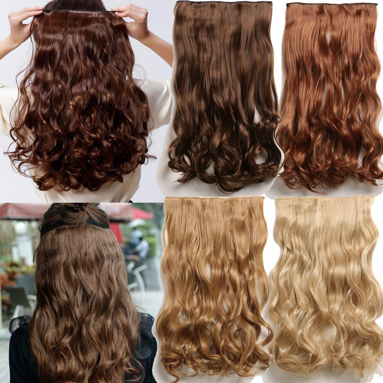 Hair Extension False Hair 24 Long Apply Hair Clips On The