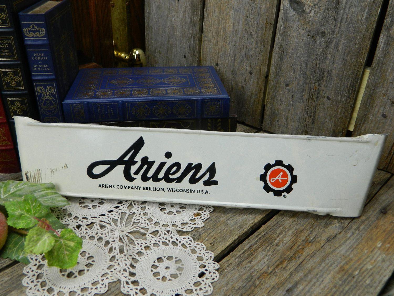 Vintage Type Advertising Screen Door Hardware Push Bar Ariens