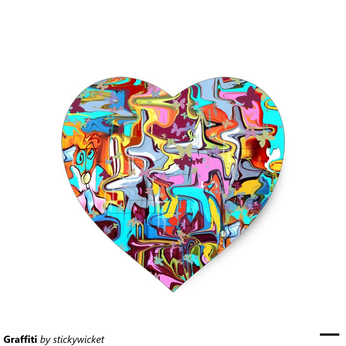 Graffiti Heart Sticker