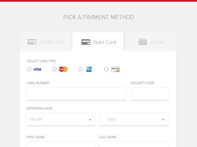 Payment Method Resume Design Template Web Design App Design