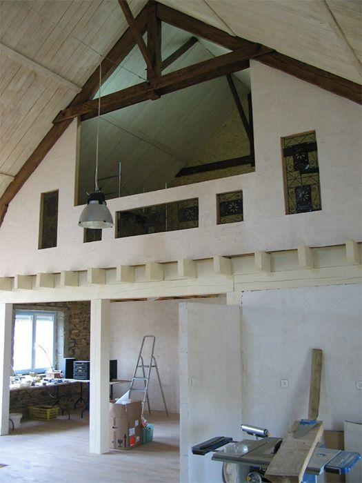 balustrade mezzanine 4 004 parement int rieur en volige maison construire pinterest. Black Bedroom Furniture Sets. Home Design Ideas