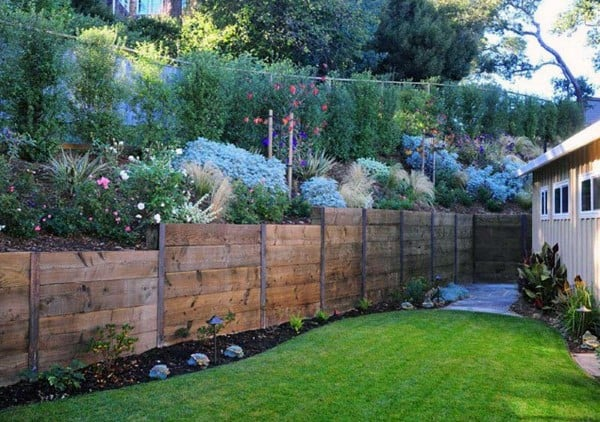 Top 60 Best Retaining Wall Ideas Landscaping Designs In 2020 Cinder Block Garden Landscape Design Garden Retaining Wall