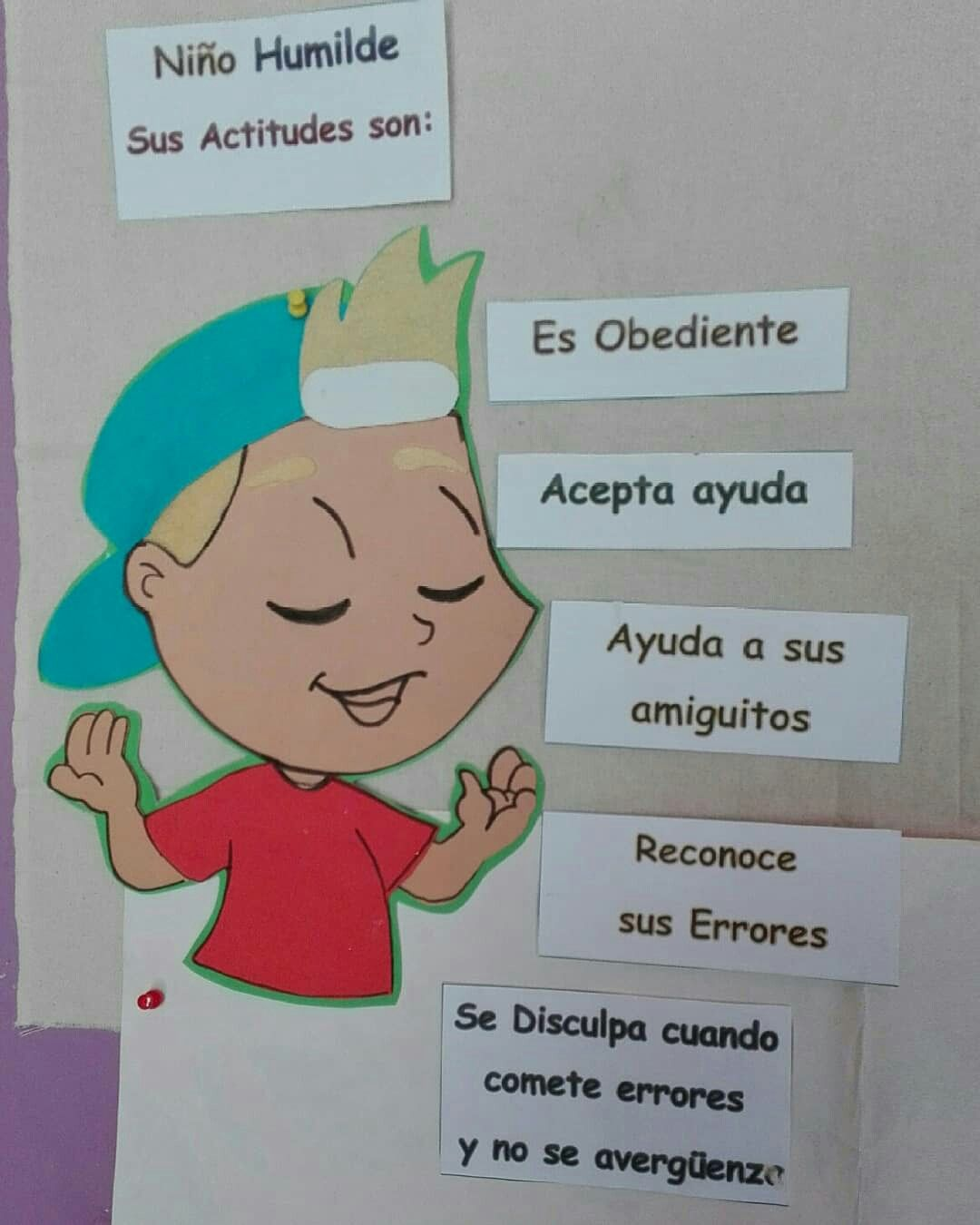 Actitudes De Un Niño Humilde Sunday School Fictional Characters Character
