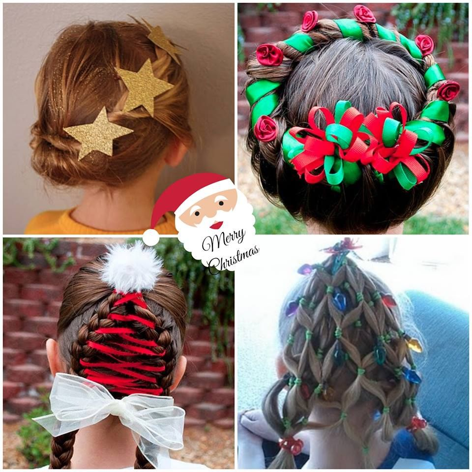 christmas hair collage   for the kids   pinterest   christmas hair