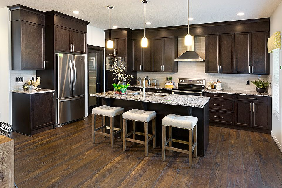 This kitchen is a show stopper  Excel Homes   Ridley show home  Walden   Calgary. This kitchen is a show stopper    Dream Kitchen Inspiration