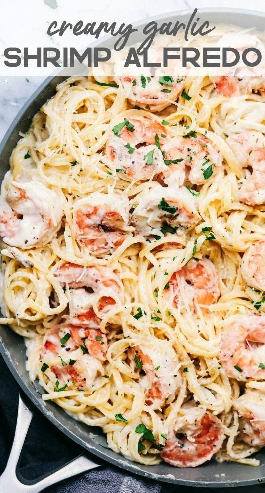 Garlic Shrimp Alfredo Pasta | The Recipe Critic#alfredoCreamy Garlic Shrimp Alfredo Pasta | The Rec