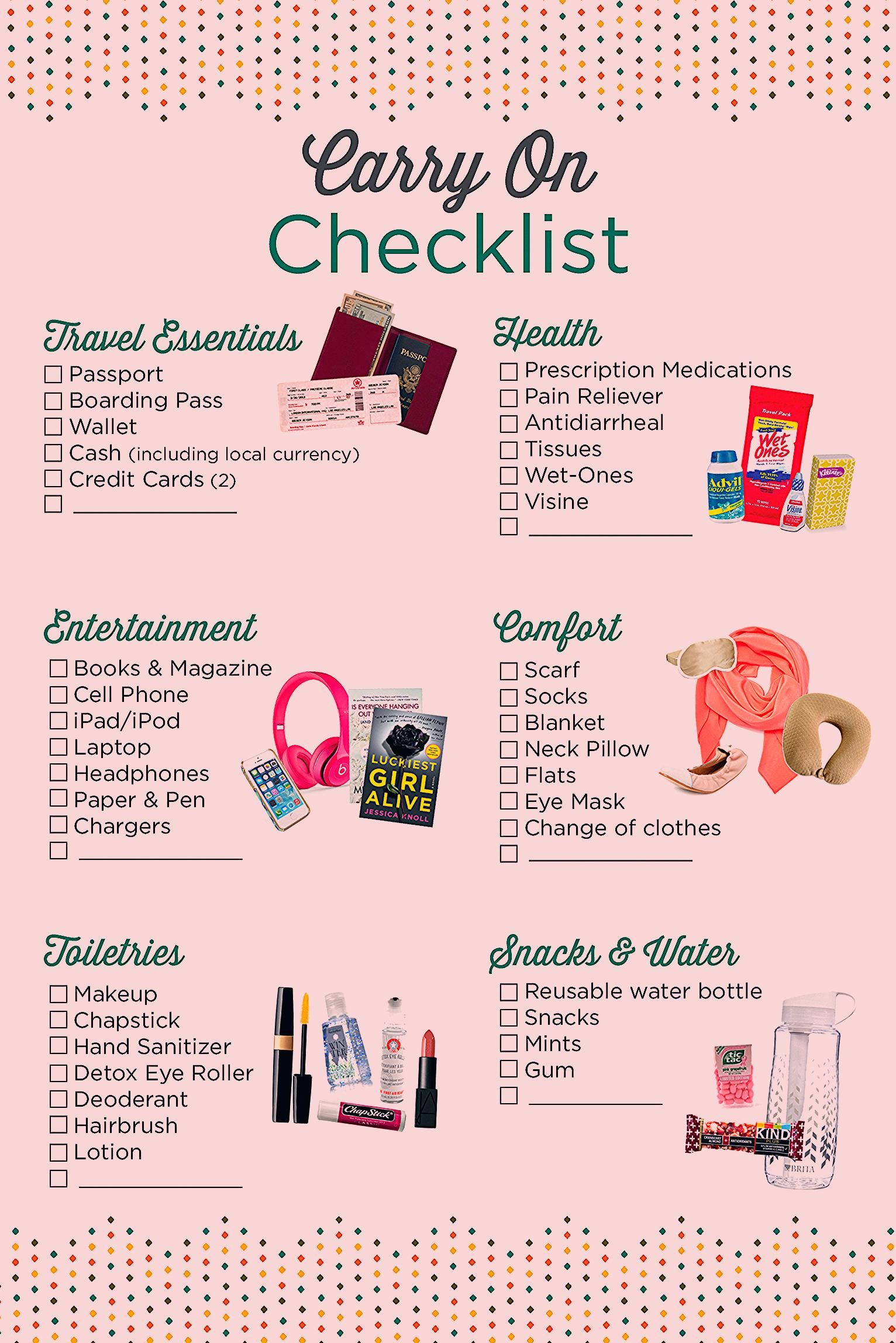 Photo of Carry On Checklist