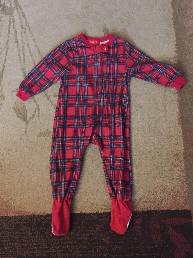 a779e38e7 Christmas 18 Month Baby Girl Boy Unisex Footed Fleece One Piece PJs ...