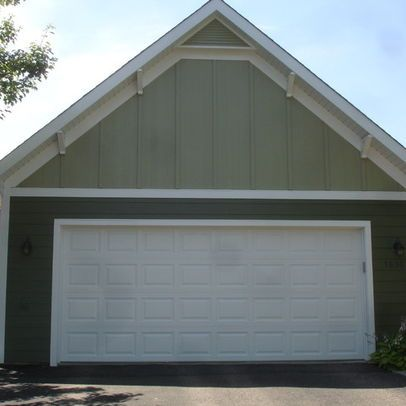 Board And Batten In The Gables Hardie Siding Garage Siding