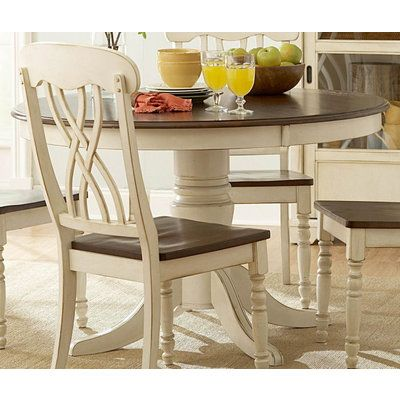 homelegance ohana 48 inch round dining table in antique white rh pinterest com 48 inch round kitchen table cover protector