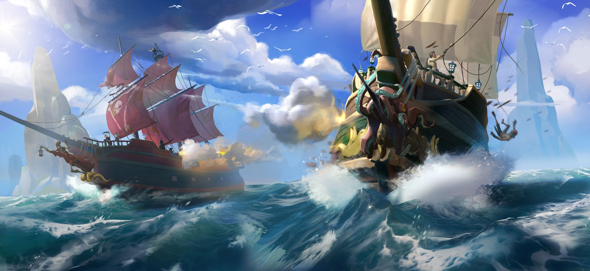 Sea of Thieves [2350x1080], HQ Backgrounds | Sea of thieves ...
