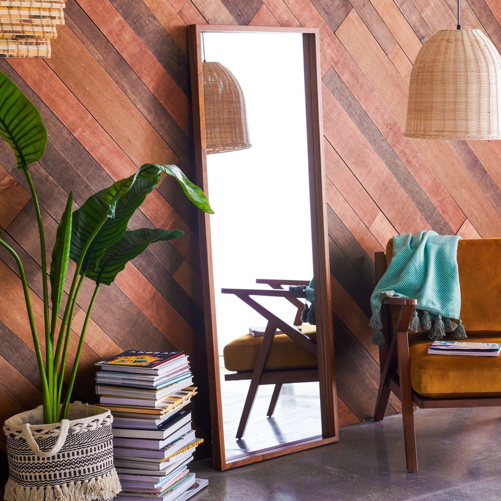 Drew barrymore flower home wood leaner mirror leaner