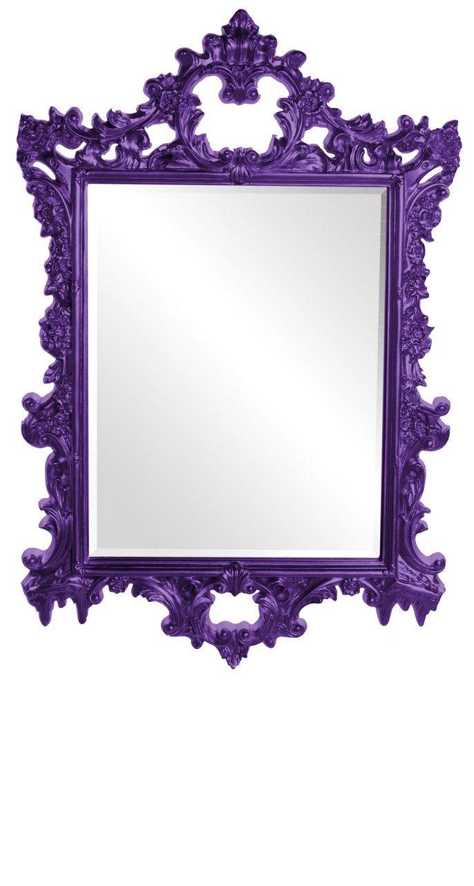 InStyle-Decor.com Purple Baroque Wall Mirrors, Living Room ...