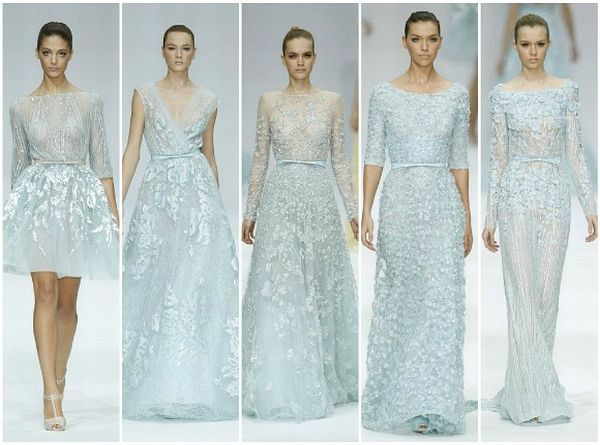 Elie Saab\'s fairytale bridesmaids in icy blue... Blair Waldorf ...