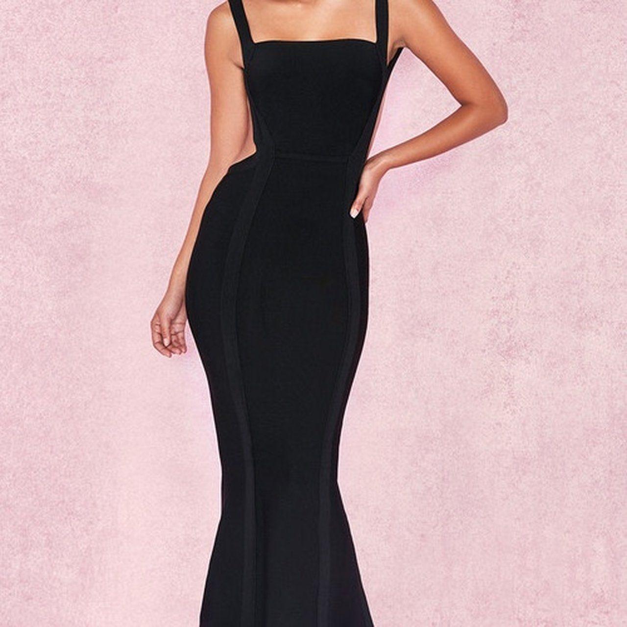 OPHELIA'Black Backless Maxi Bandage DressRRP £149.00House of
