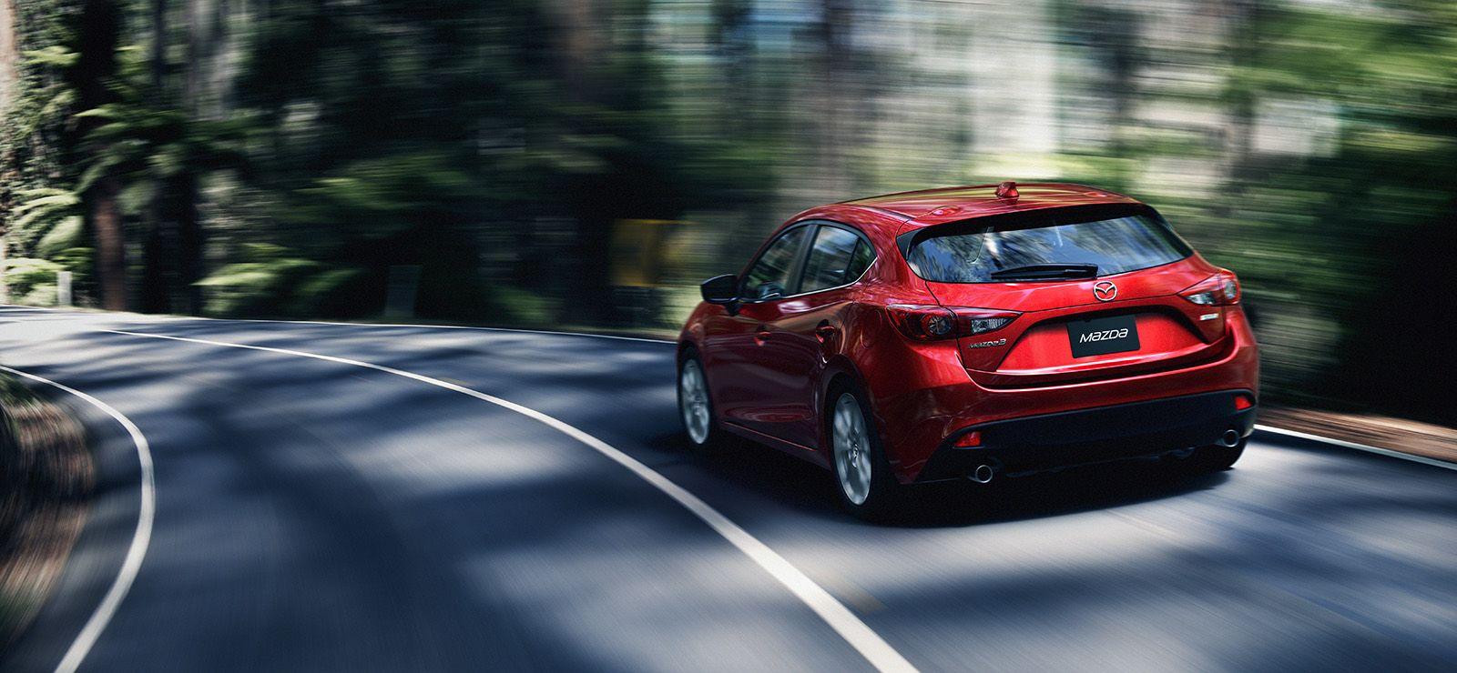 Looks good coming, or going. Mazda 3 hatchback, Mazda
