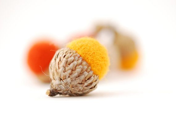 Hey, I found this really awesome Etsy listing at http://www.etsy.com/listing/85265352/felted-acorns-orange-yellow-mango-tan