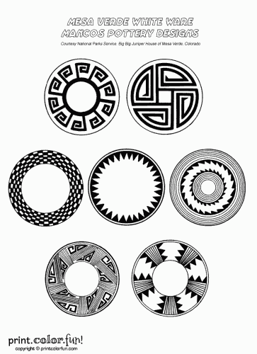 coloring pages native american pottery - photo #24