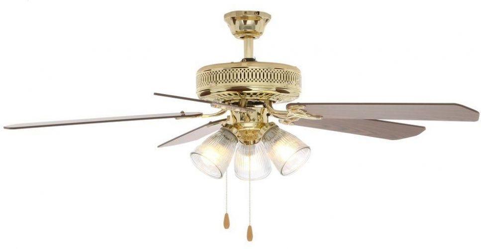 Hampton Bay 52 In 3 Speed Indoor Polished Brass Ceiling Fan With Light Kit Hamptonbay Traditional Brass Ceiling Fan Ceiling Fan Light Fixtures Ceiling Fan