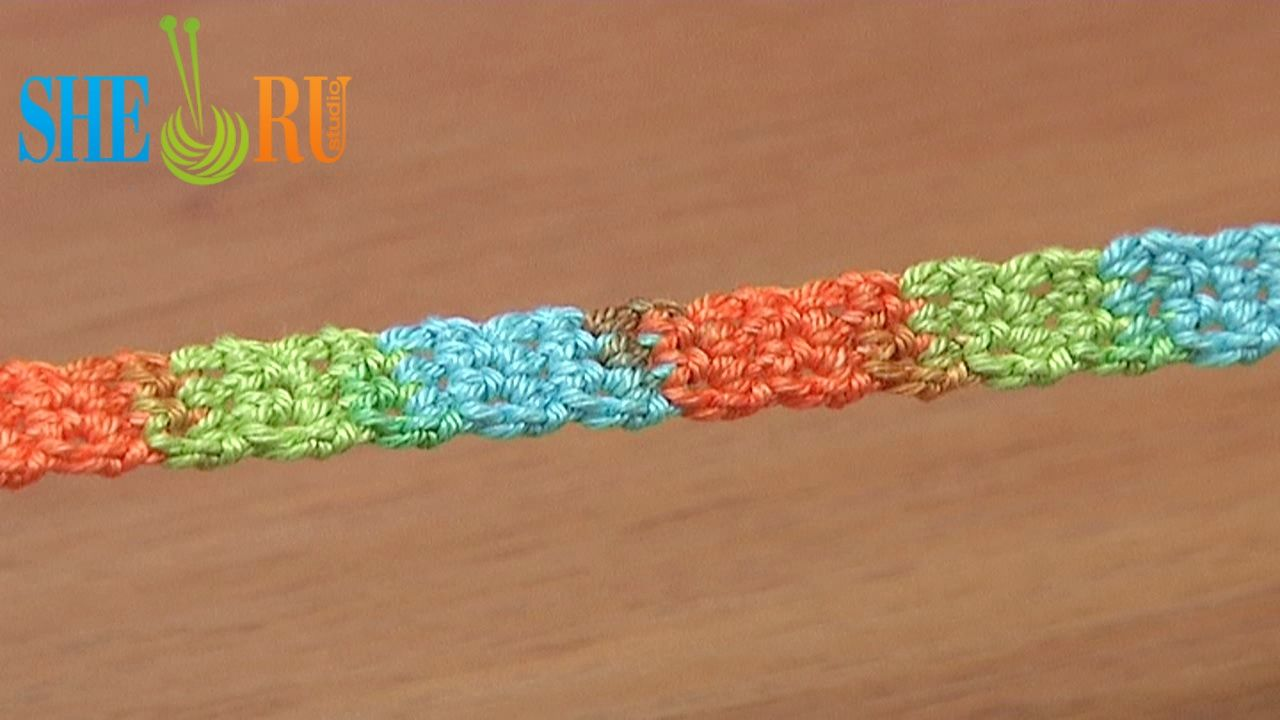 Simple Cord Crochet Tutorial 20 Single Crochet Stitches  http://www.youtube.com/watch?v=h2iOx-VVGSY Grate tutorial for beginners who practice their very first single crochet stitches. This simple crochet cord can be used like a shoestrings, belt, mobile holder etc. Romanian point lace. This crochet cord was made with Steel Crochet Hook size 2.25mm (#2 US standards) and yarn: 55% Cotton, 45% Polyacrylic, 160m in 50g, 5 ply.